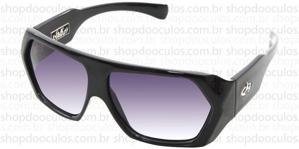 80c1d85920499 Óculos de Sol Evoke - Evoke Amplidiamond Black Shine Silver Gray Gradient