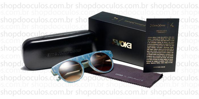 25ccbbcc2 Óculos de Sol Evoke - Evoke Juliana Jabour Evk 14 - Jeans Nude Gold Brown -  Limited Edition