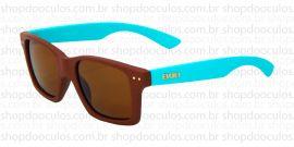 79d64ae7d2ea0 Óculos de Sol Evoke - Evoke Trigger Brown Temple Blue Gold Brown Total