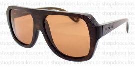 Óculos de Sol Evoke - Evoke Wood Series - 01 Dark Wood Laser Brown Polarized