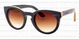 Óculos de Sol Evoke - Evoke Wood Series - 03 - Maple Collection - Black Laser Brown Gradient