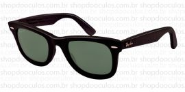 Óculos de Sol Ray Ban - RB2140-Q-M 50*22 1152/N5 WAYFARER - GENUINE LEATHER Polarized