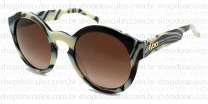 Oculos de Sol Evoke - Evk 12 Big - Bone Gold Brown Gradient