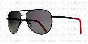 Oculos de Sol Evoke - Evoke AirFlow Black Matte Red Gray Total - Polarized