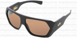 Óculos de Sol Evoke - Evoke Amplidiamond Black Matte Gold Brown Polarized