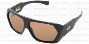 Oculos de Sol Evoke - Evoke Amplidiamond Black Matte Gold Brown Polarized