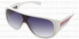 Óculos de Sol Evoke - Evoke Amplifier Aviator White With Red Blue Lines Silver Gray Gradient