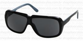 Óculos de Sol Evoke - Evoke Evk 03 - Hebert Baglione Black Blue Grilamid Gray Total -Limited Edition