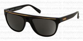 Óculos de Sol Evoke - Evoke Evk 07 - The Hype Br Black Shine Gold Gri Gold Gray  - Limited Edition
