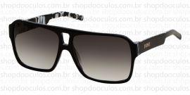 Óculos de Sol Evoke - Evoke Evk 09 Black Mesclado Acetate Silver Gray Gradient