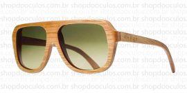 Óculos de Sol Evoke - Evoke Wood Series - 01 Clear Wood Laser Green Gradient