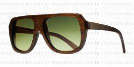 Óculos de Sol Evoke - Evoke Wood Series - 01 Dark Wood Laser Green Gradient