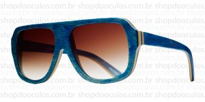 Oculos de Sol Evoke - Evoke Wood Series - 01 - Maple Collection - Blue Laser Brown Gradient
