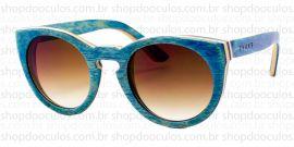 Óculos de Sol Evoke - Evoke Wood Series - 03 - Maple Collection - Blue Laser Brown Gradient