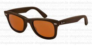 Oculos de Sol Ray Ban - RB2140-Q-M 50*22 1153/N6 WAYFARER - GENUINE LEATHER Polarized
